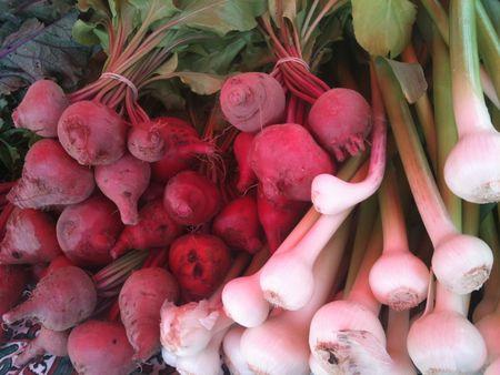Beets & Green Garlic